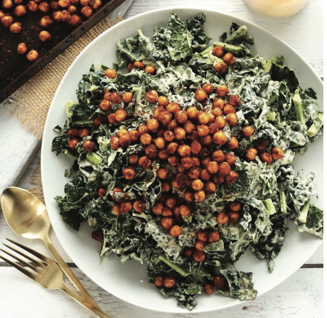Creamy Kale & Chickpea Salad - Marvelous Healthy Meal Prep